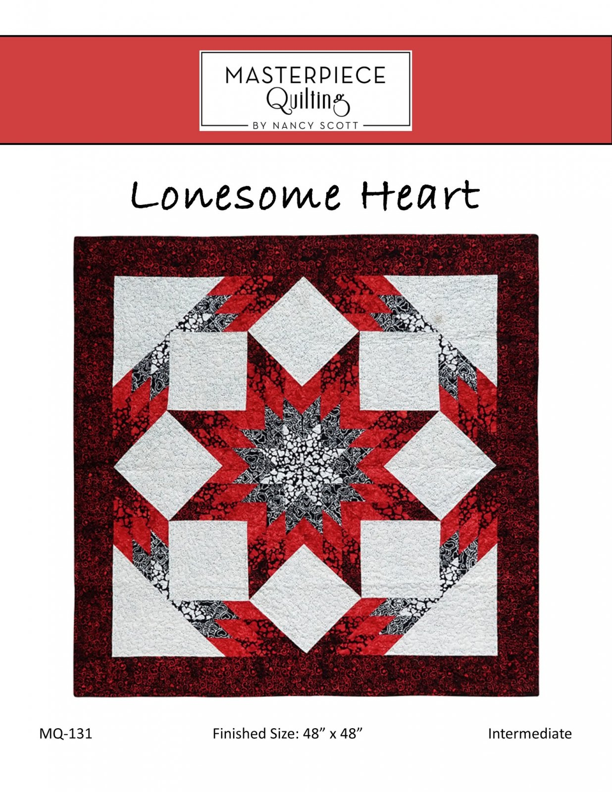 Lonesome Heart Quilt Pattern