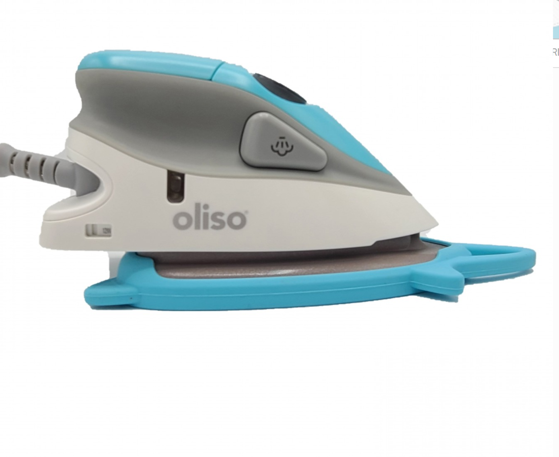 Oliso Mini Iron with Trivet - Turquoise