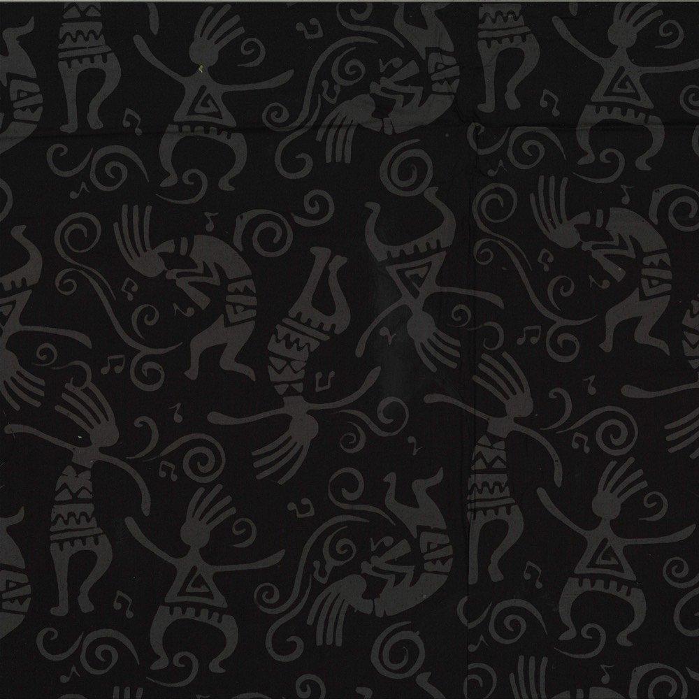 Custom Bali Batik: Kokopelli - Raven