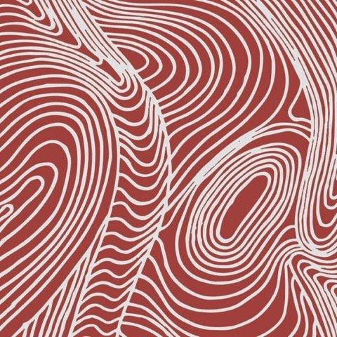 River Dreaming - Red by Barbara Egan