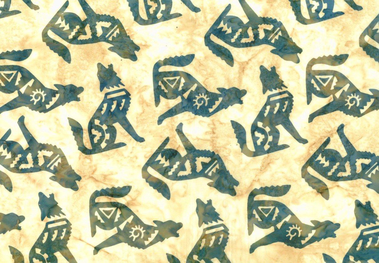Custom Bali Batik: Coyote - Iguana