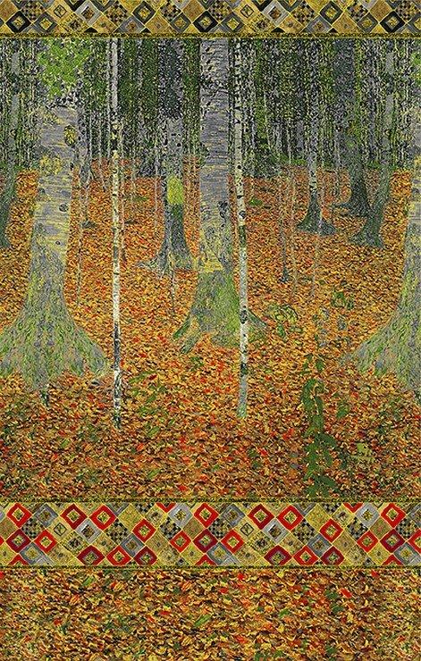 Gustav Klimt - Birch Forest - Autumn 24 Panel
