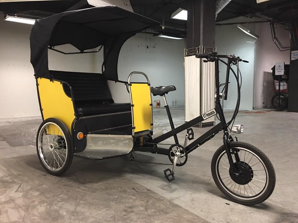 Pedal Media Pedicab 3 Passenger Rear Drive with Canopy