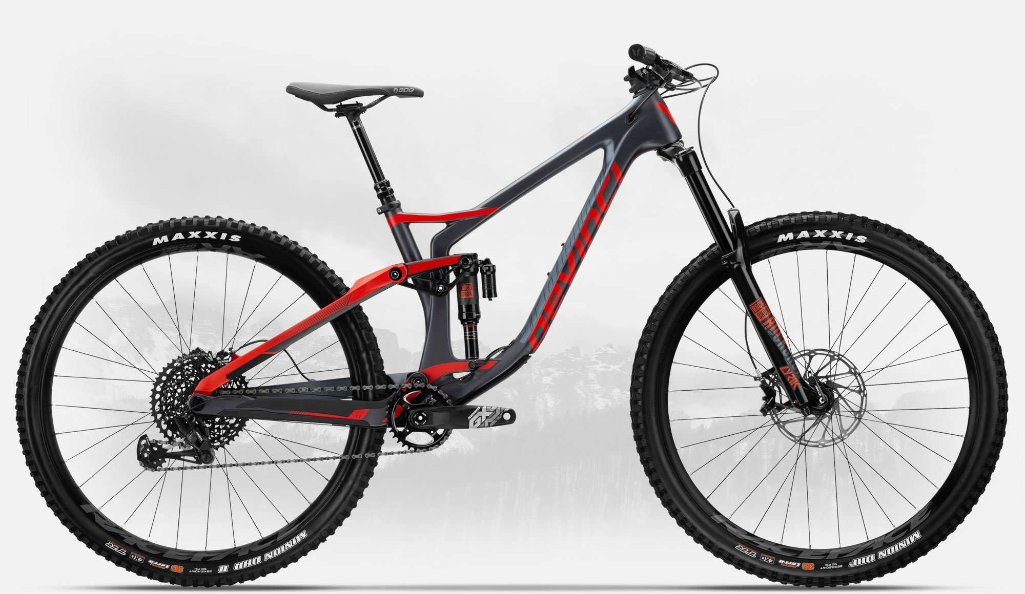 DEVINCI SPARTAN CARB MED 29R GX TECH/RED