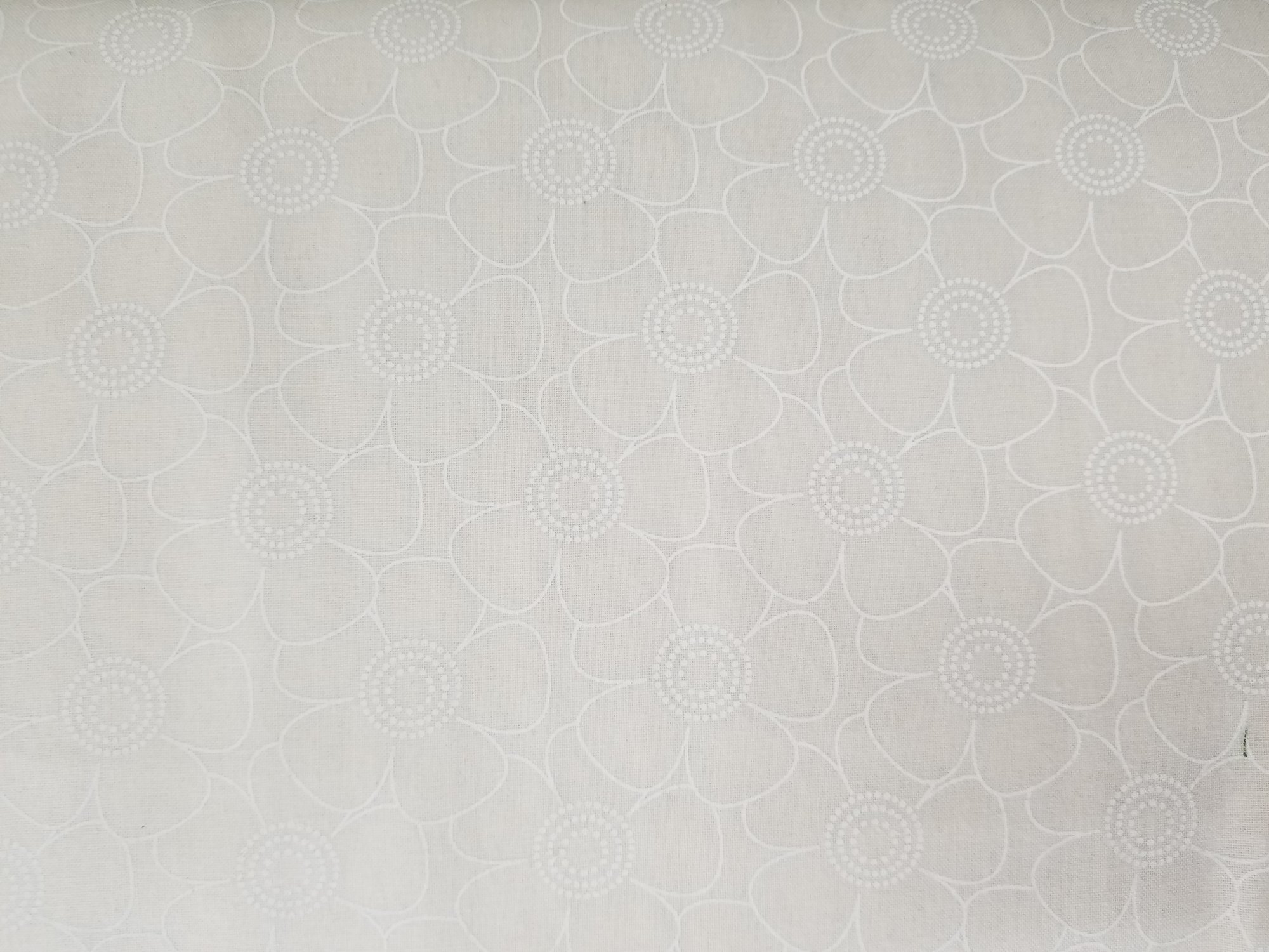 108 Cream Floral Quilt Backing