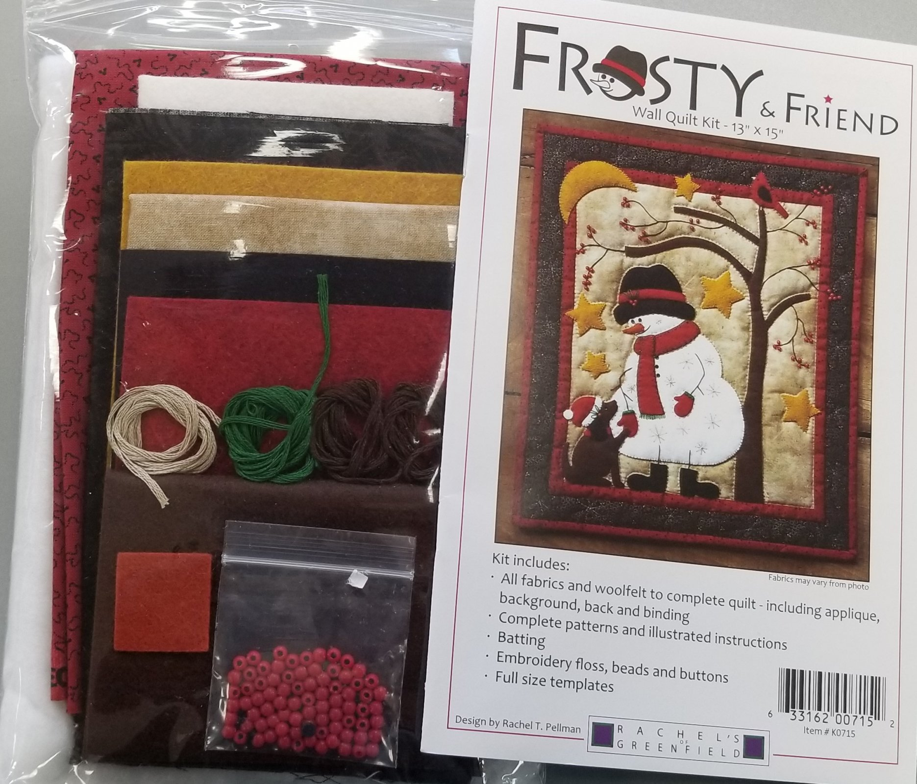 Frosty & Friend Wall Quilty Kit