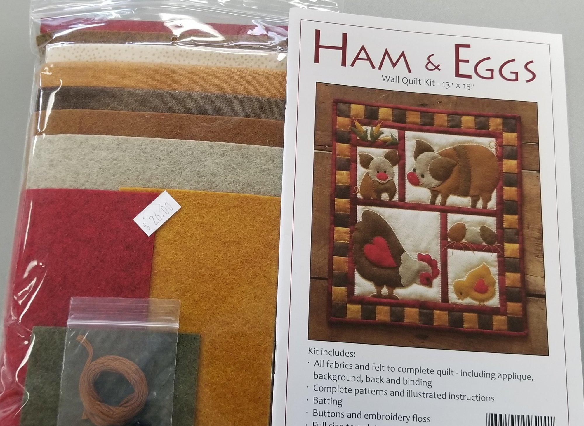 Ham & Eggs Wall Quilt Kit