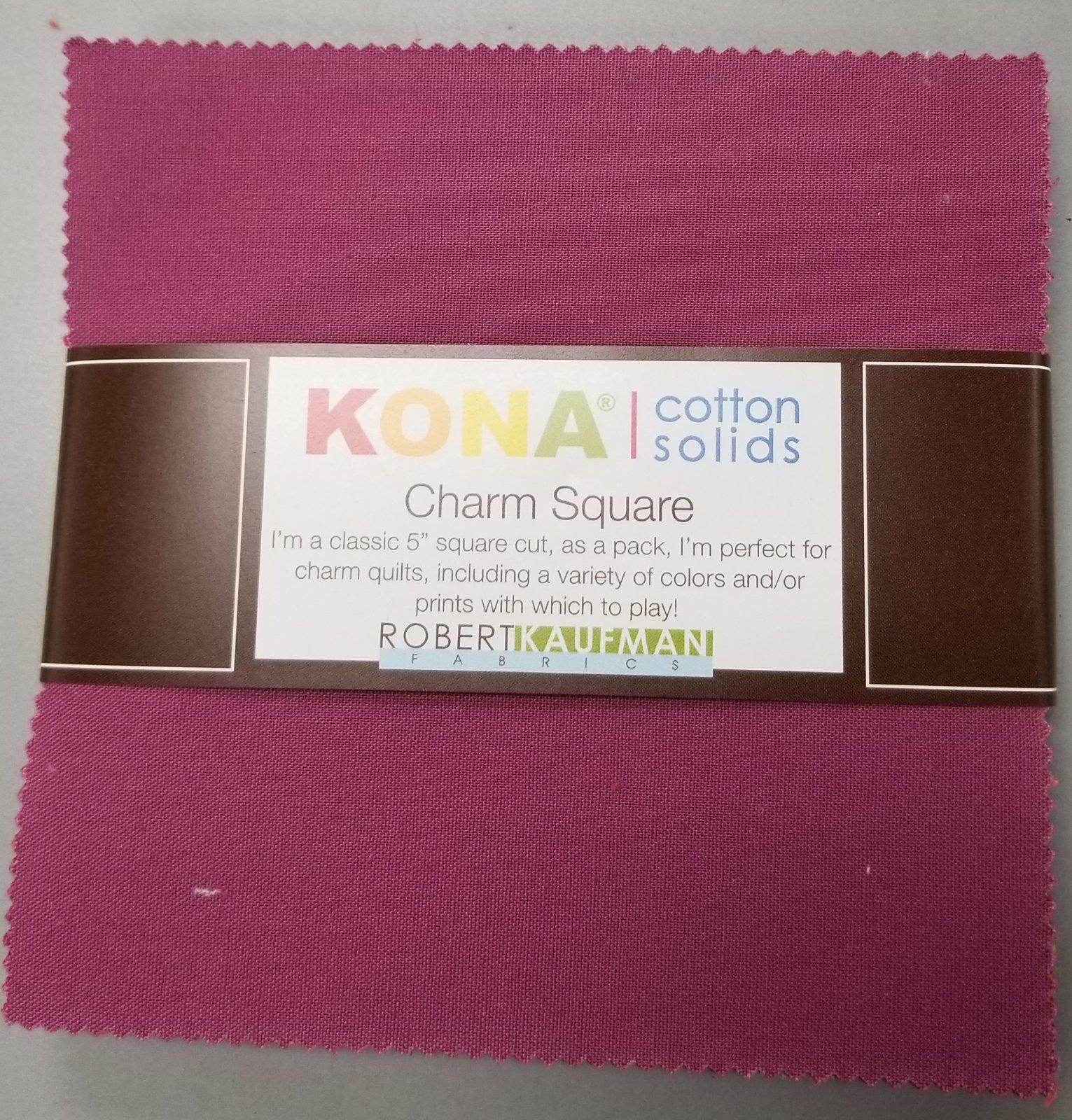 Kona Solid Charm Squares - Berry Season