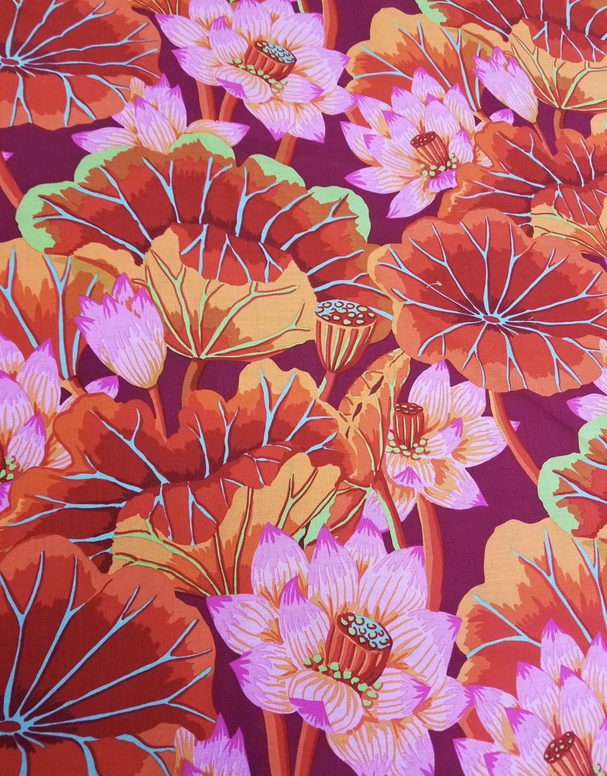 Kaffe Fassett Lake Blossoms Classics Red