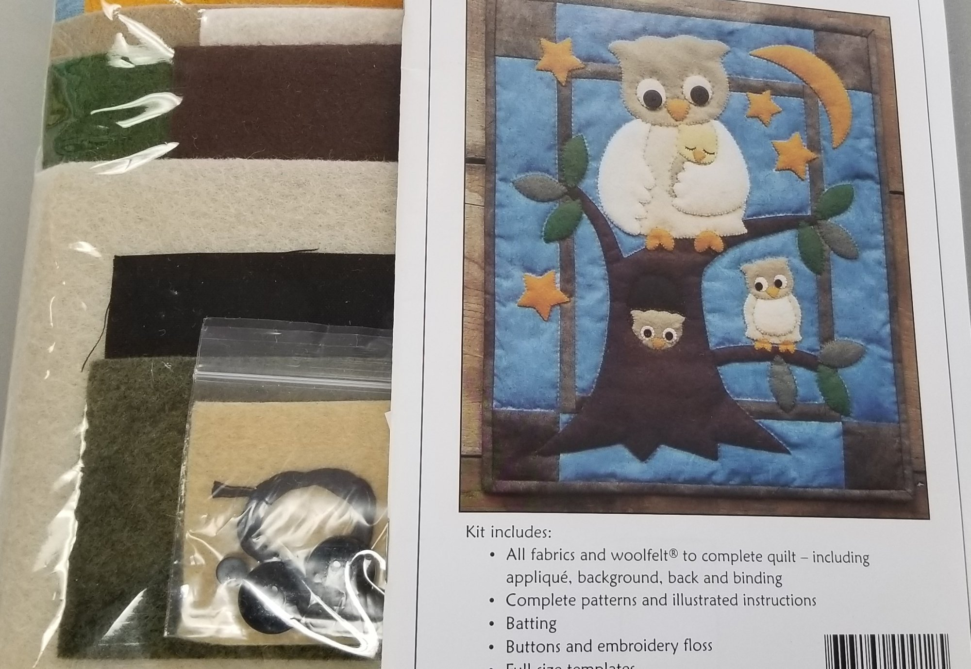 Owl Family Wall Quilt Kit