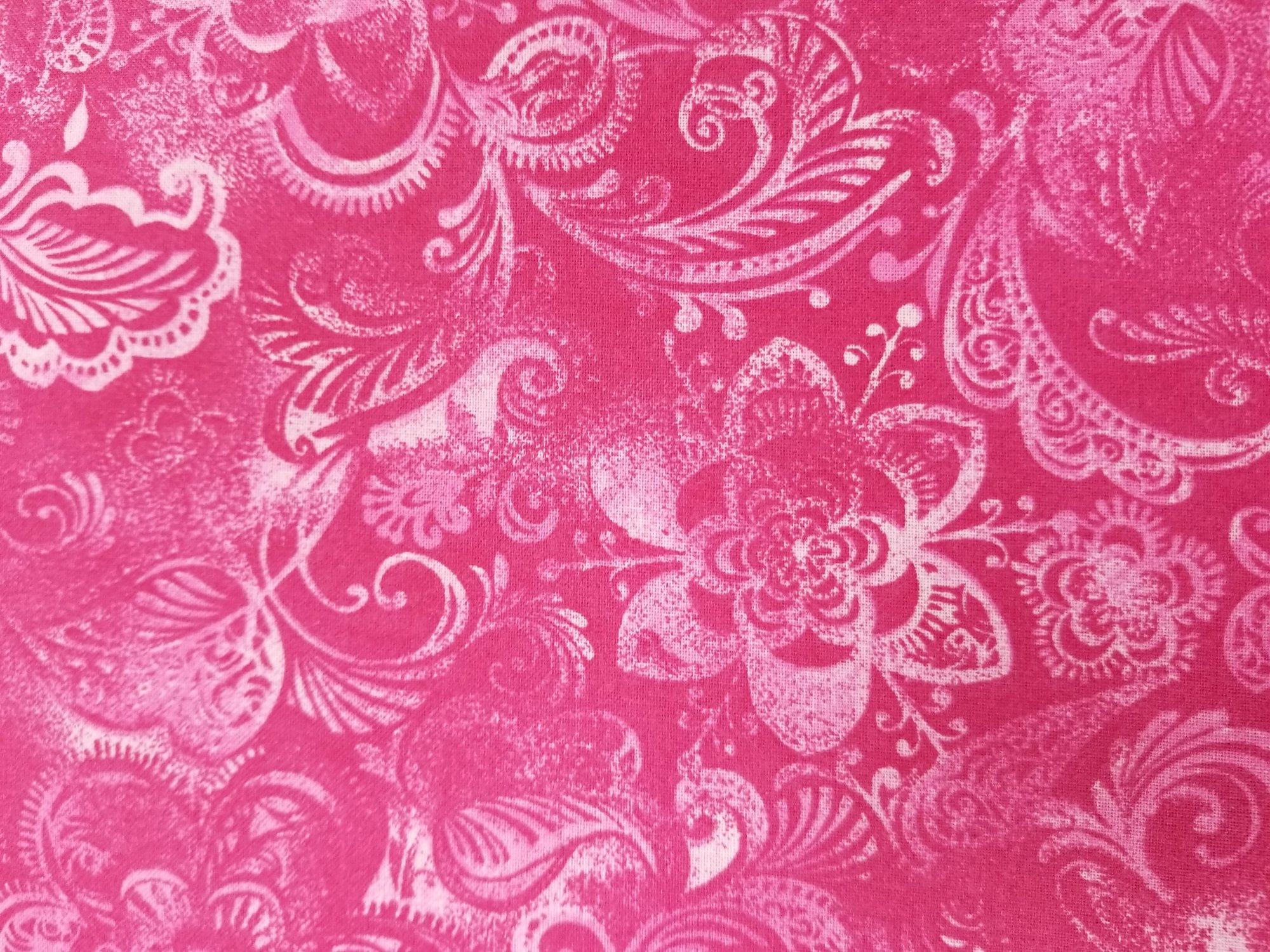 108 Floral Pink Quilt Backing