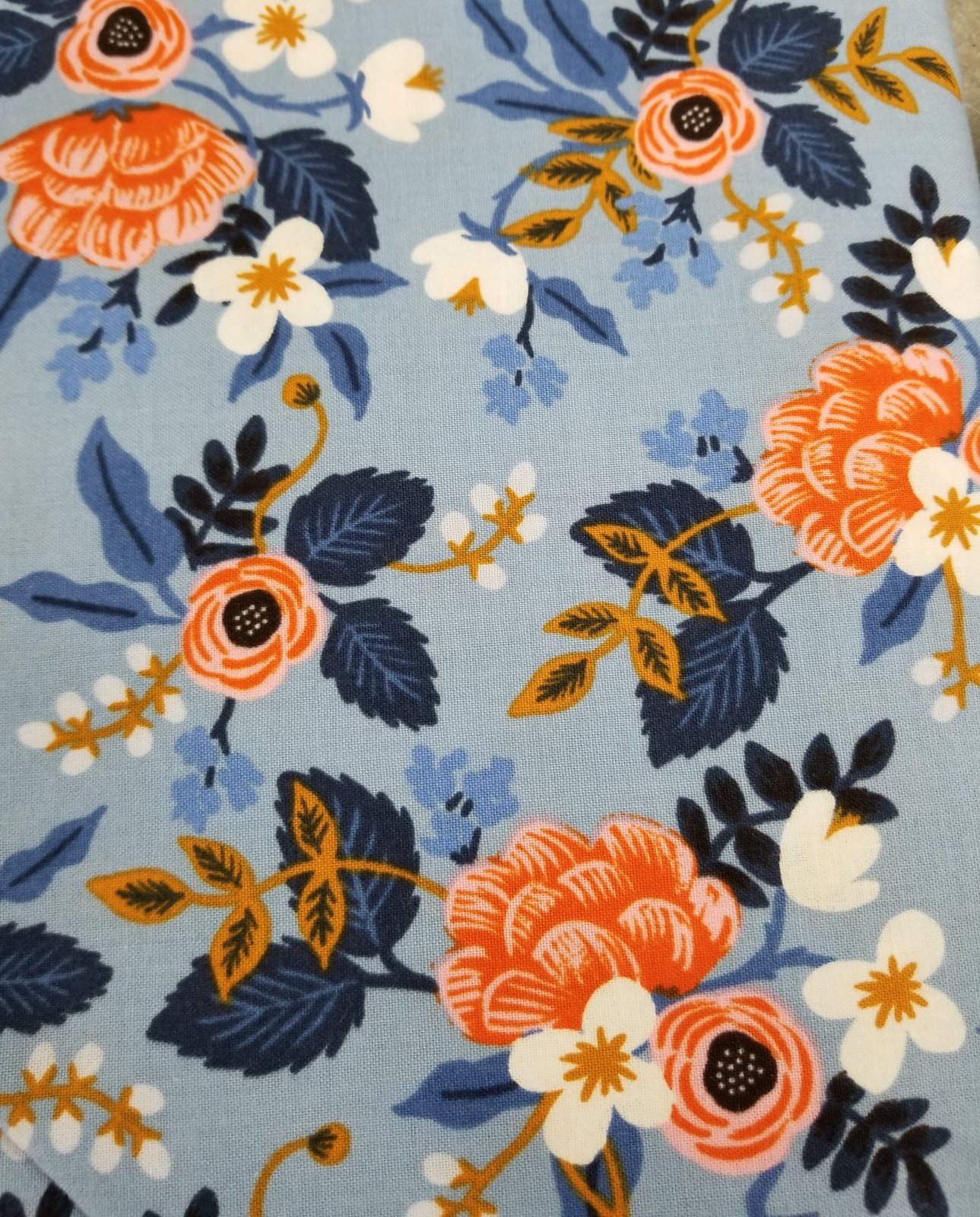 Rifle Paper Co. Cotton & Steel Les Fleurs Blue