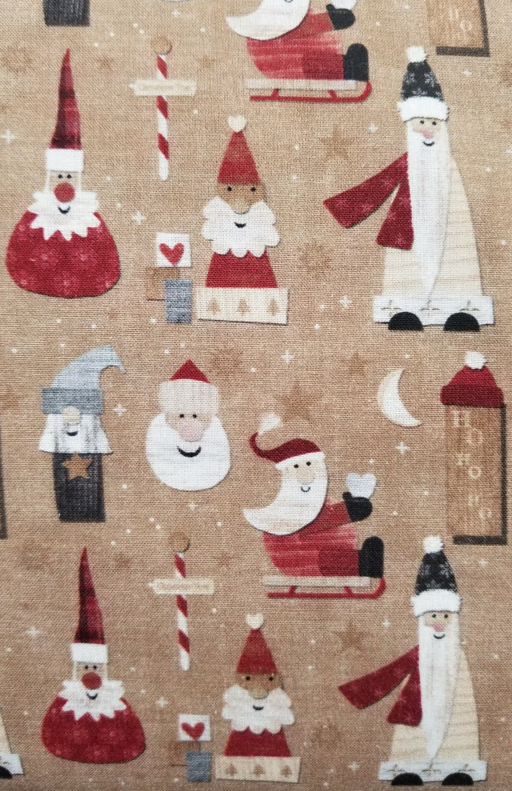 64 Christmas Santas Quilt Backing