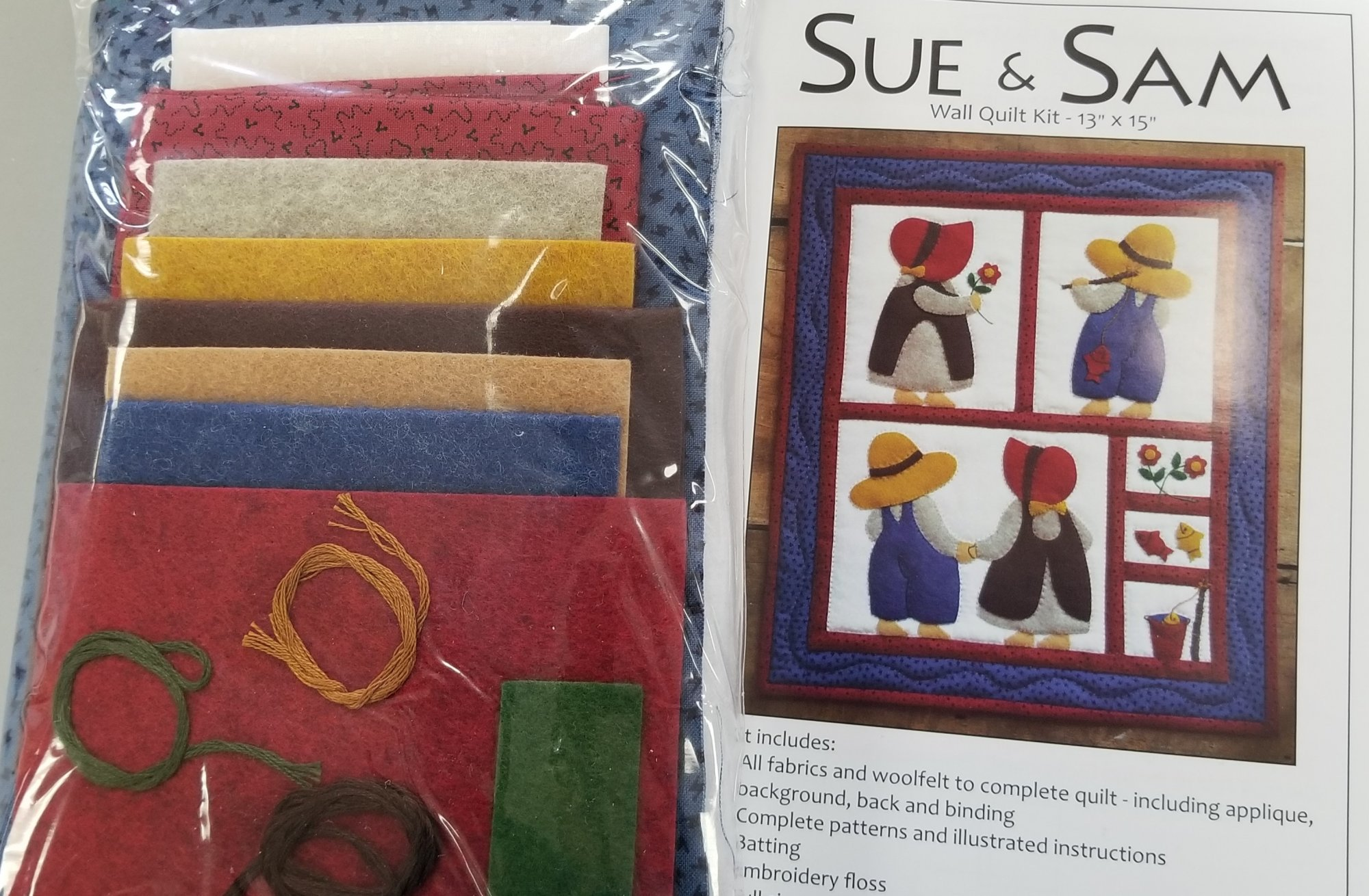 Sue & Sam Wall Quilt Kit