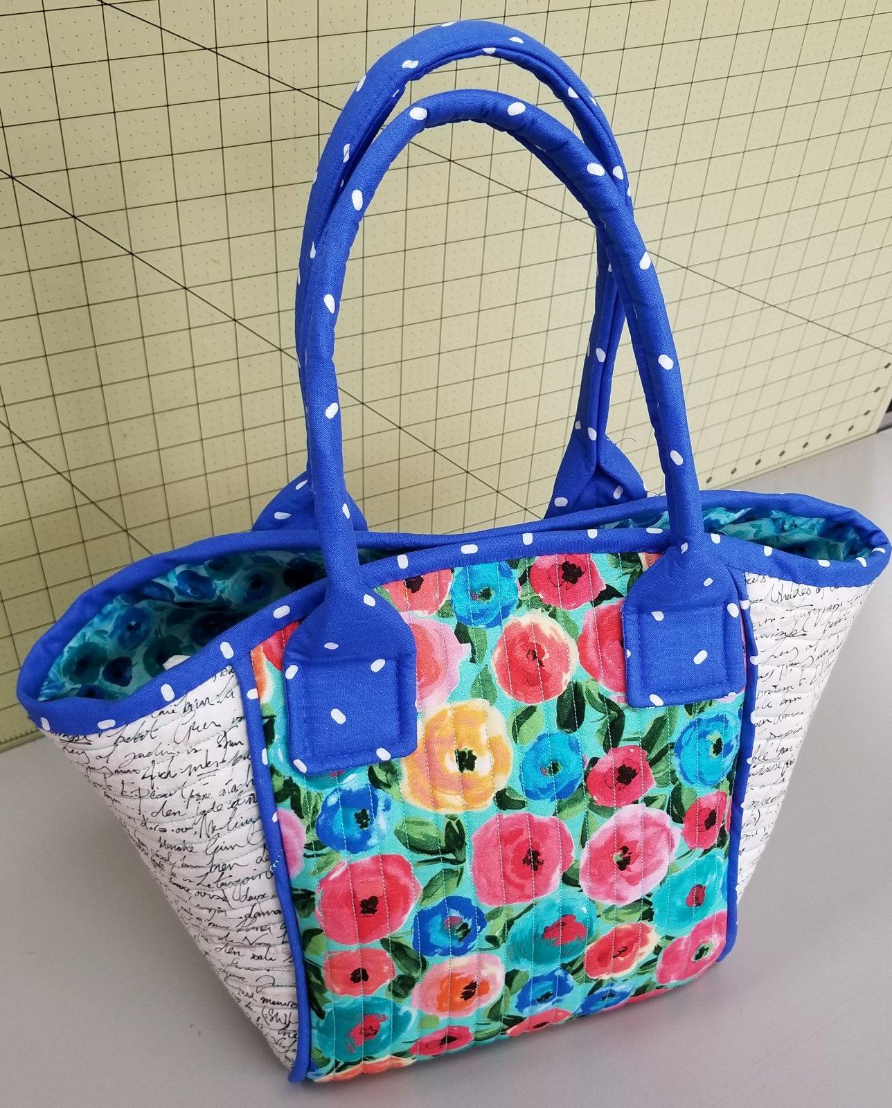 Floral Basket Tote