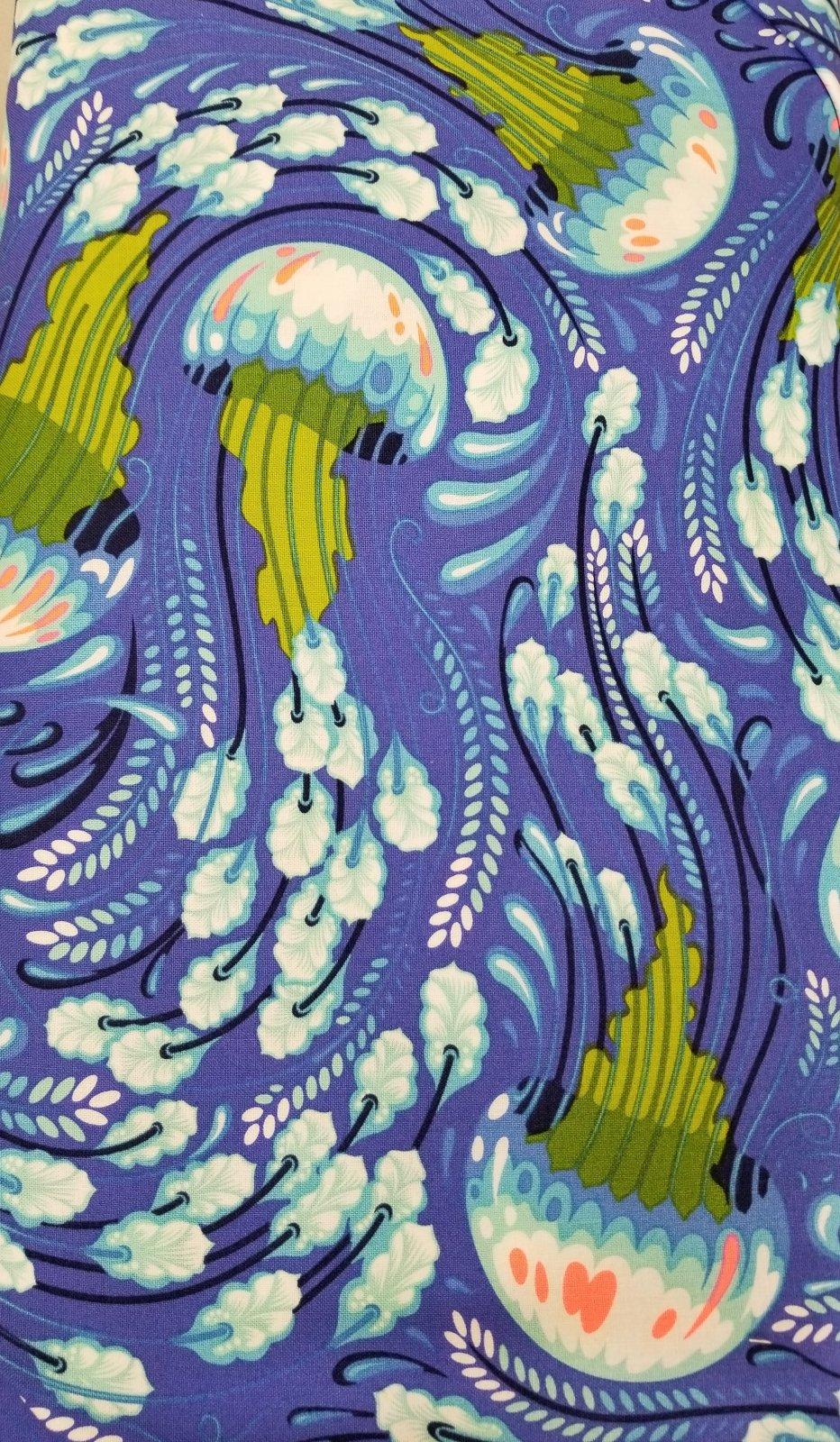 Zuma - Sea Bloom (Aquamarine) by Tula Pink