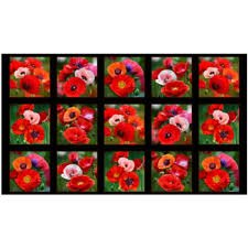 Poppies Small Panels 547BLACK