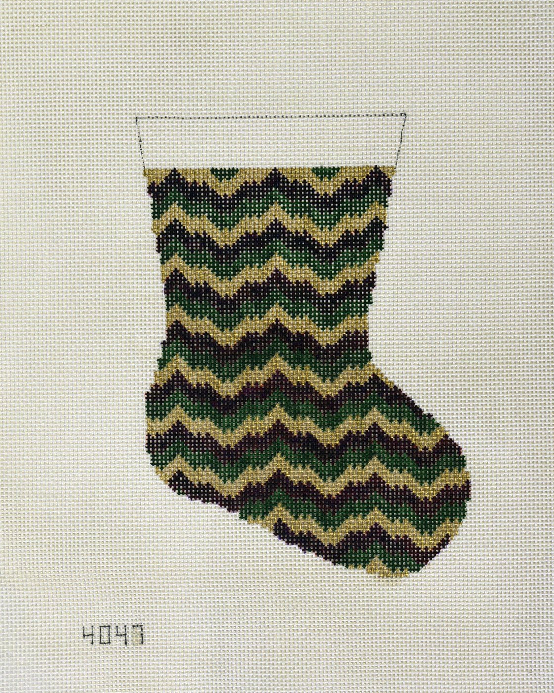 Bargello Sock:  NEE