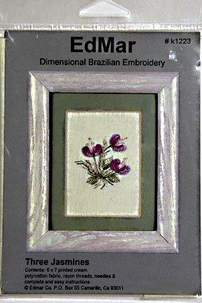 Brazilian Embroidery:  Three Jasmines:  BE9013