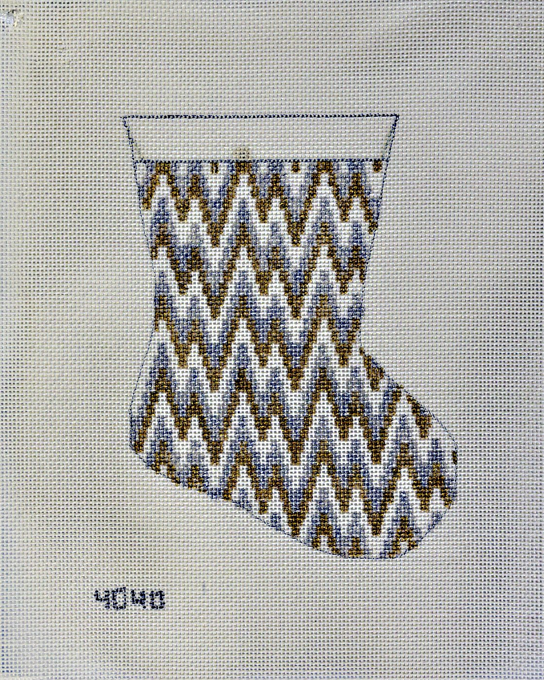 Metallic Bargello sock:  NEE