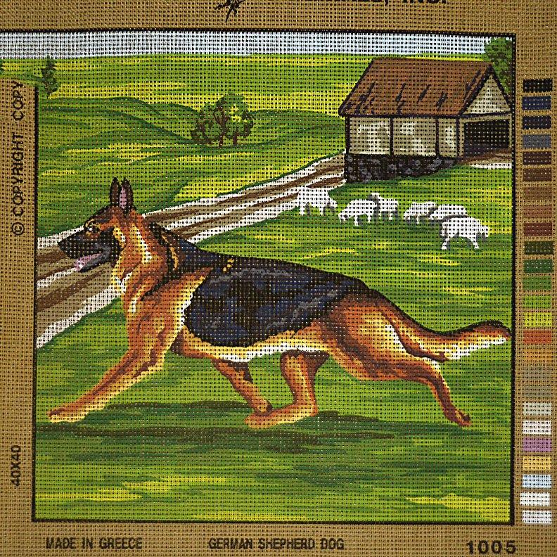 Painted Canvas German Shepherd:  NEE