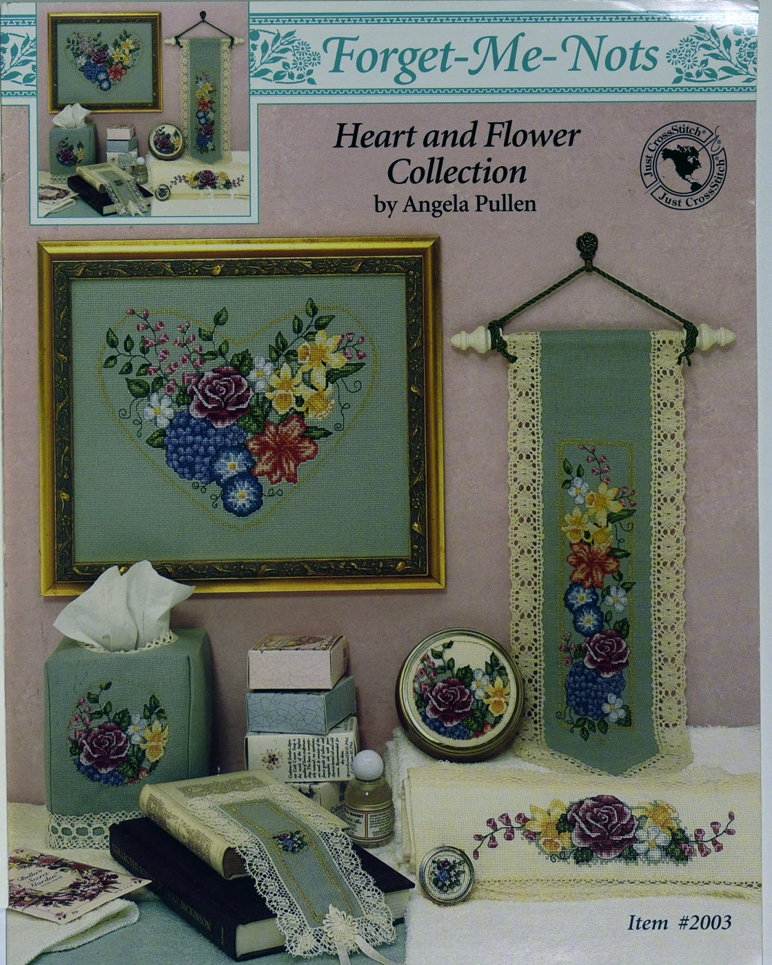 Heart and Flower Collection Bell Pull:  BP