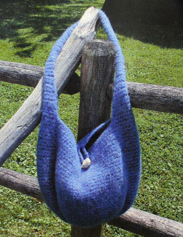 Crocheted - Felted Satchel:  CRO