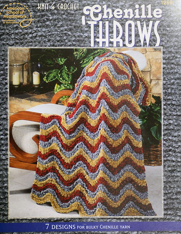 Chenille Throws for Crochet and Knit
