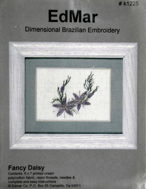Brazilian Embroidery:  Fancy Daisy:  BE9003