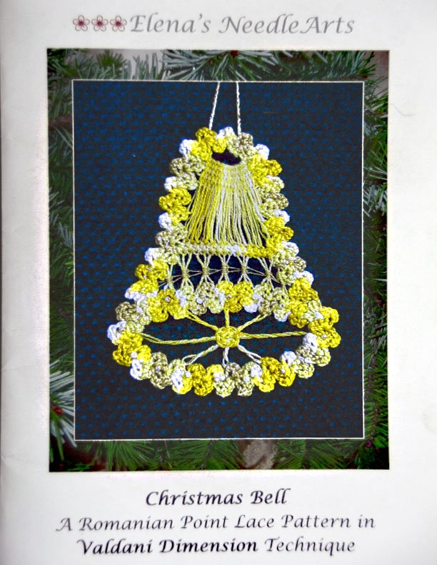 Romanian Point Lace:  Christmas Bell:  RPL101