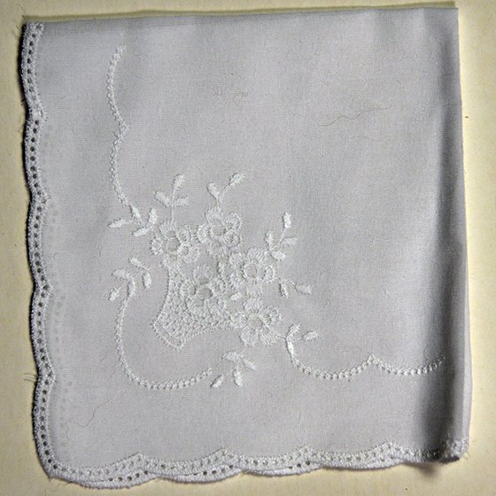 Basket and Flowers Pattern Hanky