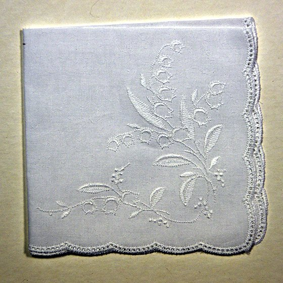Leaf and Flowers  Pattern Hanky