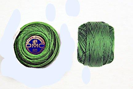 DMC #80 Green Tatting Thread