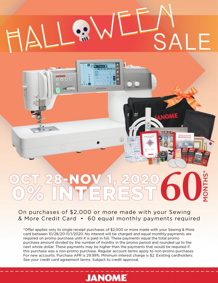 Janome Special Halloween Financing Part 2