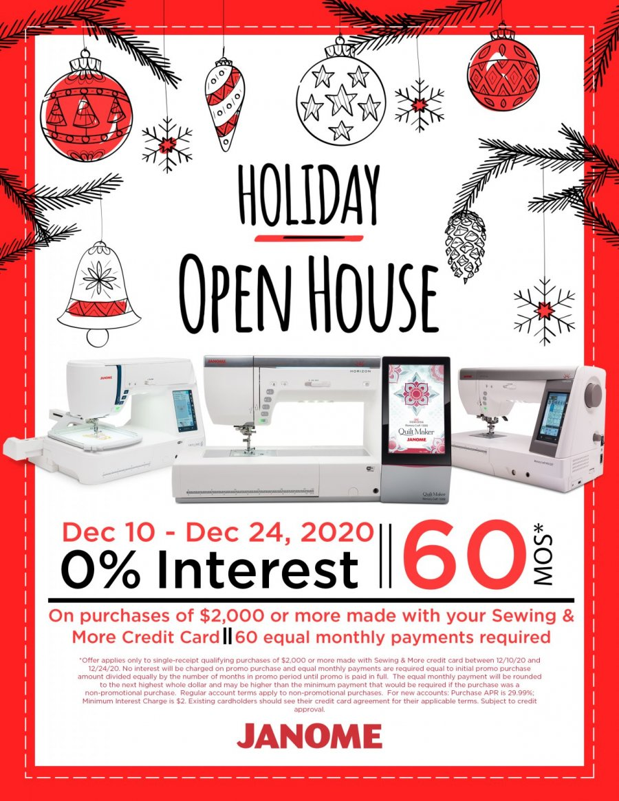 Holiday Open House Special Financing