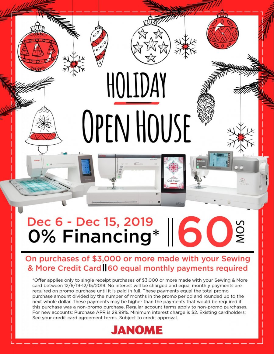 Holiday Open House Financing