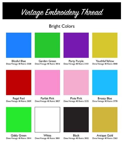 DIME Vintage Thread #40 Retro Brights