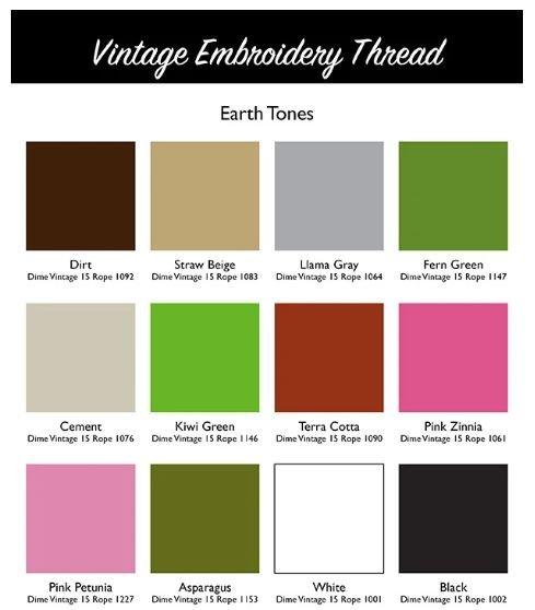DIME Vintage Thread #15 Rope Earth Tones