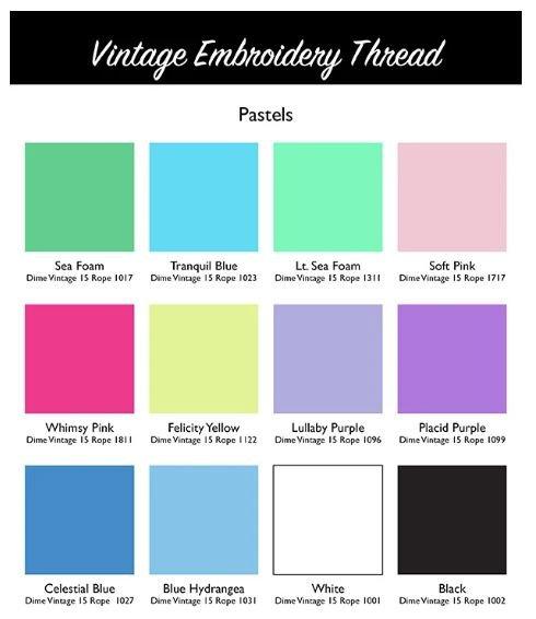 DIME Vintage Thread #15 Rope Pastel