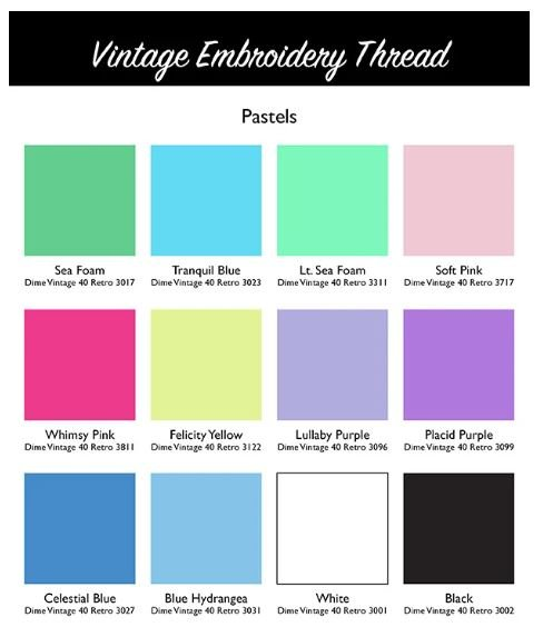 DIME Vintage Thread #40 Retro Pastel