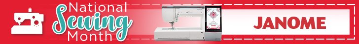 Janome National Sewing Month Promo