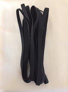 5yd Pkg - Elastic BLACK 1/4in