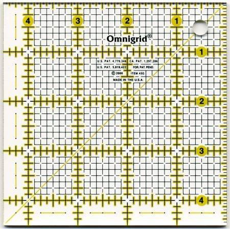 Omnigrid 4.5in x 4.5in Ruler