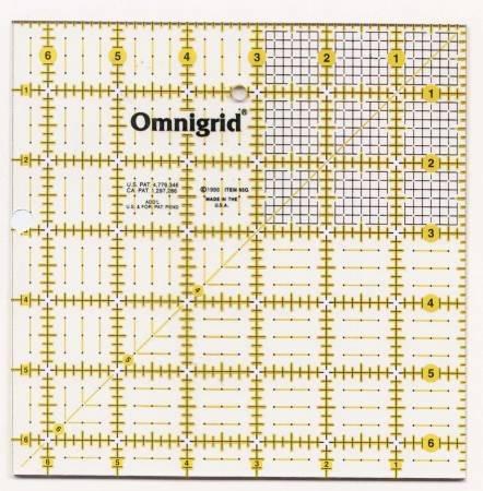 Omnigrid 6.5in x 6.5in Ruler
