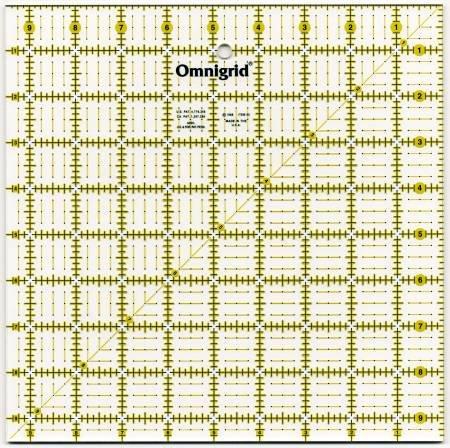 Omnigrid 9.5in x 9.5in Ruler
