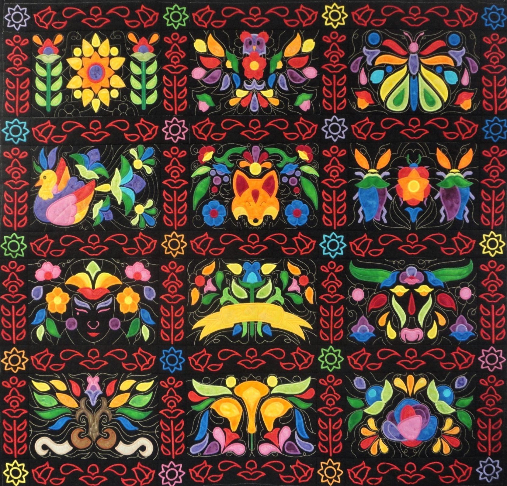 Embroidered Applique quilt
