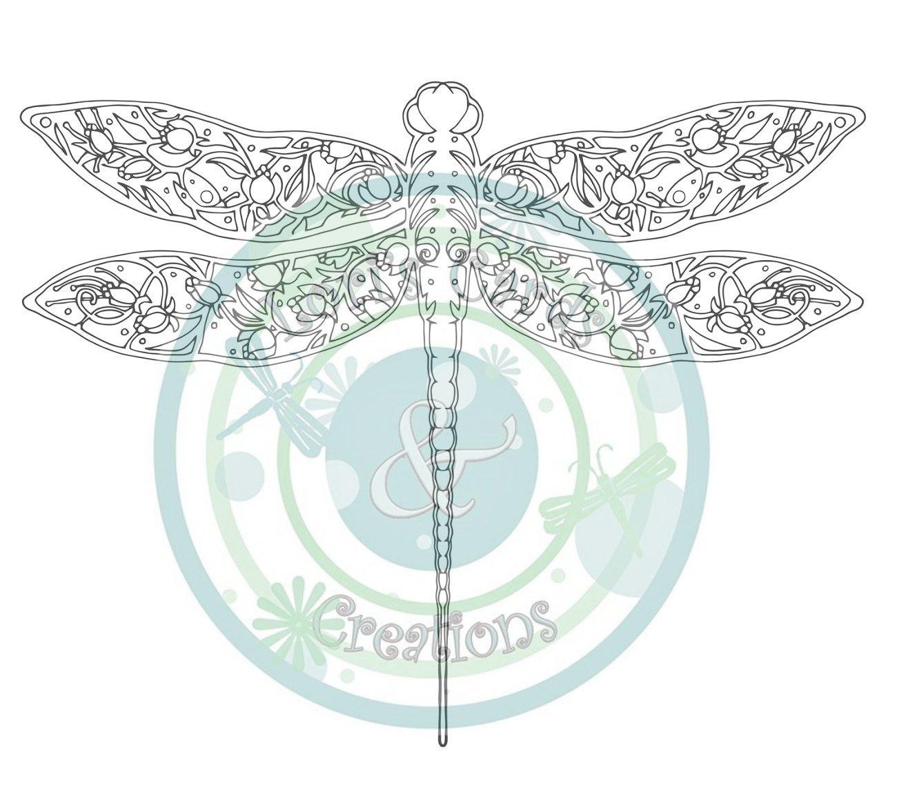 Art Nouveau Dragonfly Digi