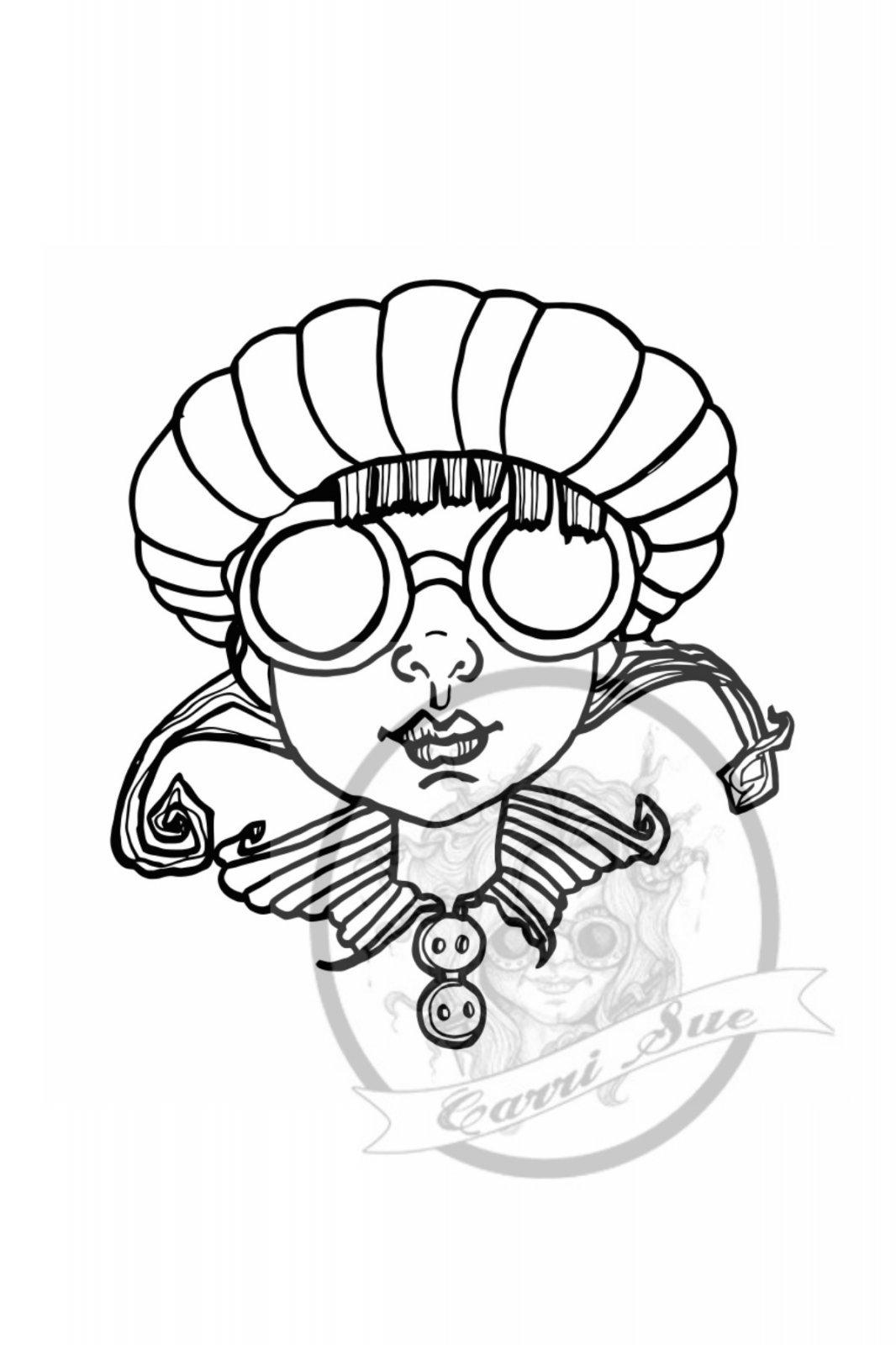 Goggle Girl Head