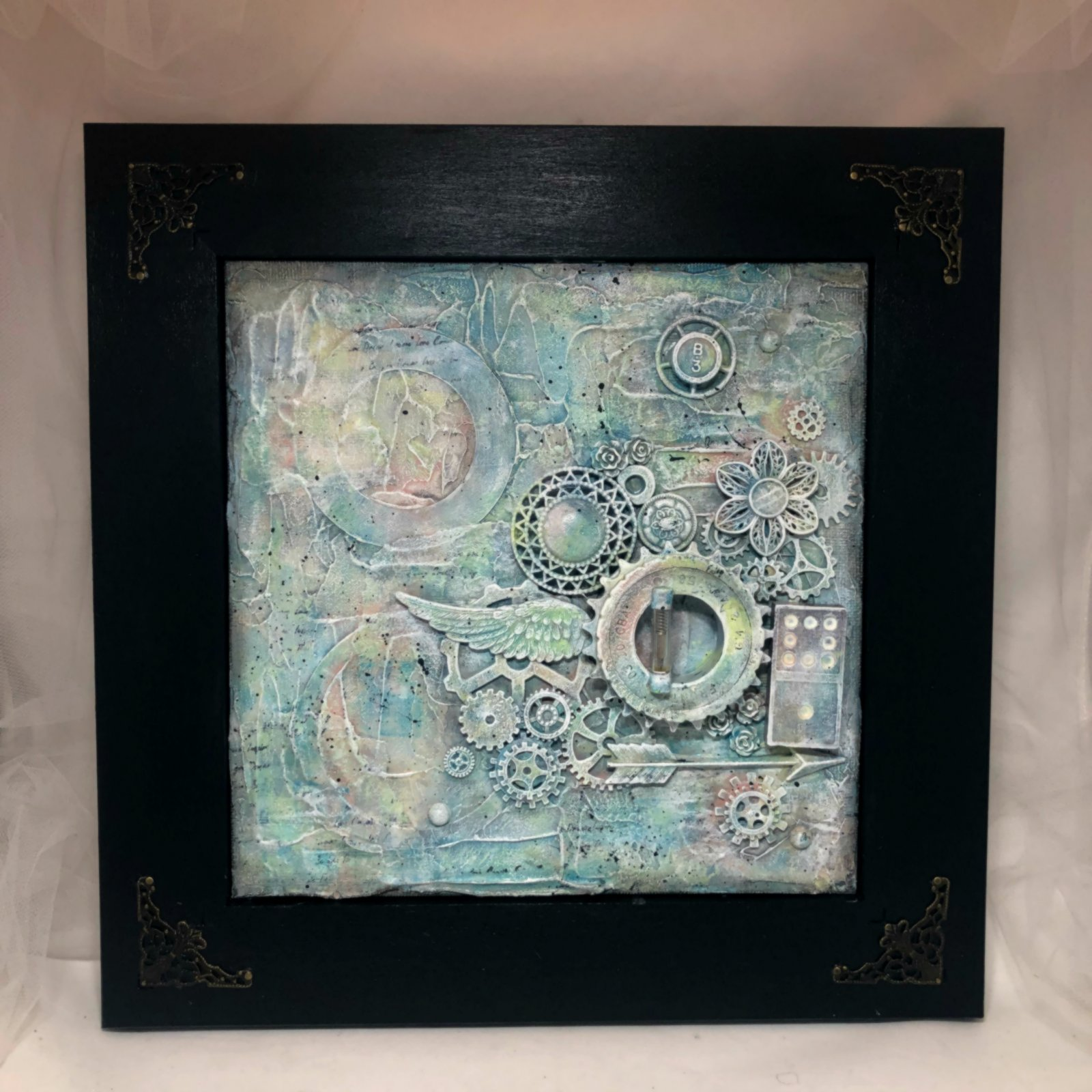 Inspired by Nature framed 8 x 8 canvas