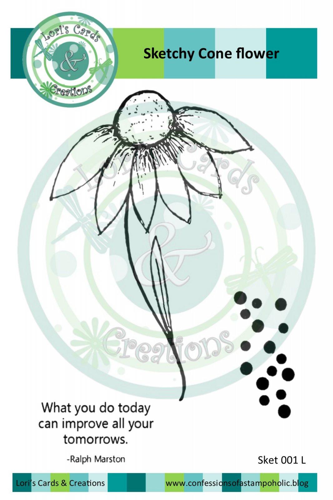 Sketchy Cone Flower